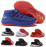 Wholesale China Athletic Shoes - Cheap Basketball Shoes Sneakers D Lillard 4 Dame 4s Rip City Red Un-Dyed Signature Men Man Athletics Sports China Brand Tennis Trainers Shoe