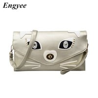 Wholesale handbag shoulder korea for sale - Group buy Engyee Nightclubs Clutches Women Leather Envelope Wallet Clutch Bag Korea Ladies Handbags For Girls Shopper Kitty Shoulder Bag