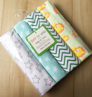 algodones de bebé que reciben mantas al por mayor-Travel 4pcs / pack 100% Cotton Supersoft Flannel Baby Blanket, Baby Recibir Blanket Blanket Bedsheet, pañales para bebés, sábanas de algodón para bebés