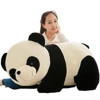 Wholesale giant plush toys for kids resale online - Giant Cute Panda Plush Toy Fat Pandas Dolls Simulation Hug Bear Pillow Doll for Kids Adults Gift inch cm