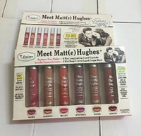 e marcas venda por atacado-Maquiagem Matte Lip Gloss Conheça Matt (e) Hughes Mini conjunto de Longa Duração Líquido Batom com a Marca em estoque 6 pçs / set