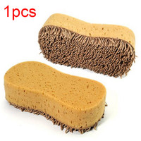 губка для мытья микрофибры оптовых-Practical Car Washer Sponge Microfiber Coral Sponge Brush Washing Cleaner Scratch Resistant Cleaning For Auto Car Styling Yellow