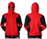 Wholesale jacket hoodie anime character - Hoodie Marvel Hooded Men Sweatshirt Zipper Outerwear Jacket 3D Anime Characters Hoodies Cosplay Costume