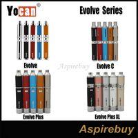 Wholesale Dry Herb Sets - Original Yocan Evolve Series Evol C Set Evolve Plus Kit Evolve Plus XL Kit Wax Dry Herb Pen Vaporizer with 650 1100mAh Battery 100% Original