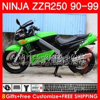 Wholesale new fairings kawasaki ninja for sale - Fairing new blk For KAWASAKI NINJA ZZR250 ZZR green black HM ZZR Bodywork kit