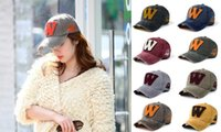 Wholesale custom embroidery snapback hats - Fashion cotton embroidery letter W snapback caps unisex outdoor hat custom adjustable baseball cap top quality