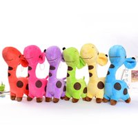 Wholesale car window sucker doll online - 18cm Giraffe deer plush toys doll Car window decoration Sucker pendant Stuffed Animals Toy Holiday gifts Colors to Choose