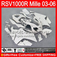 Wholesale fairing rsv resale online - Body For Aprilia RSV1000RR Mille RSV1000R HM RSV R RSV R RSV1000 R Glossy white Fairing kit