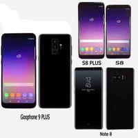 note phone оптовых-Goophone 9 плюс Примечание 8 отпечатков пальцев четырехъядерный 1gbram 16GBROM полный экран 6,4-дюймовый мобильный телефон Показать 4G LTE android разблокирован телефон запечатанная коробка