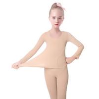 balé nu venda por atacado-Meninas Nude Algodão Lingerie Ballet Leotards Bailarina Bodysuit Meninas Traje de Dança Ballet Dance ClothesBallet Calças Justas