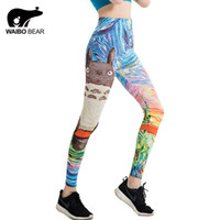 a078f90bc91548 Japanese Harajuku Totoro Print Leggins Push Up Fitness Sexy Cartoon 3d  Graffiti Women Casual Funny Fitness Leggings Waibo Bear
