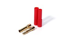 Wholesale gold plated banana plugs - 10pairs HXT 4MM 4.0mm Bullet banana Connectors Gold Plating AND Red Housing RC CONNECTOR PLUG for RC Helicopters