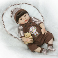 Wholesale china baby model online - 23 quot Full Silicone Bebe Reborn Baby Boy Princess Dolls Lifelike Newborn Babies Alive Doll for Child Bath Shower Girl sleeping Toy Doll