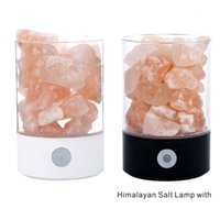 Wholesale metal candle lamp - New Himalaya salt lamp, increase the content of air negative ion, restrain radiation, help sleep, 7 color night lamp.