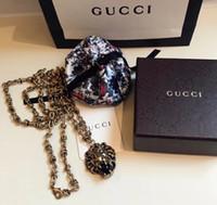 хип-хоп длинные ожерелья оптовых-Италия роскошный дизайнер 19ss длинные мужские ожерелья кулон ожерелья Льва формы хип-хоп ожерелье нет коробки