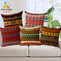 Wholesale indian beds for sale - 45x45cm Cotton Linen Boho Pillow case Indian Bohemian Cushion Cover for Home Christmas Decor Bedding Sofa Seat Car Pillow Cases