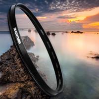 filtros de lente de 55mm al por mayor-Freeshipping Utra-light CPL polarizador polarizador filtro de lente para cámara 40.5 mm, 49 mm, 52 mm, 58 mm, 67 mm, 72 mm, 77 mm, 82 mm, 86 mm, 55 mm