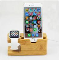 зарядка apple iwatch оптовых-Реальная деревянная бамбуковая подставка для мобильного телефона для Iphone 6 6s 7 8 plus X деревянная подставка для зарядки док-станции Credle для Iphone Apple iwatch Dock Station