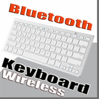 Wholesale Mini Wireless Keyboard Slim Streamline Design Ghz Bluetooth Keyboards for iphone iPad Samsung Tablet PC Laptop PC
