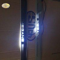el umbral de la puerta del coche llevó luces al por mayor-venta al por mayor LED pedal de desgaste ligero para Renault Megane coche acrílico led pedal de bienvenida alféizar de la puerta