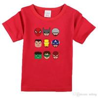 roupas legends league venda por atacado-NW021-002 Novos meninos meninas Verão T-shirt, crianças Dos Desenhos Animados t shirt crianças roupas de algodão lendas Liga
