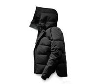 satılık kış erkekler parkas toptan satış-Tasarımcı Ceketler aşağı parkas erkekler Kanada Yeni Varış Satış erkekler Guse Château Siyah Lacivert Gri Aşağı Ceket Kış Coat / Parka Çıkışı Ile Satış