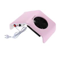 secadora al vacío al por mayor-220 V Nail Art Dryer Salon Máquina de aspiración de polvo colector Aspiradora Salon Tool Plástico UV Gel Tip Machine Uñas Herramientas