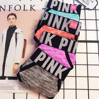 boxers para mujeres al por mayor-PINK caliente carta de la ropa interior de las mujeres bragas amantes sexy ropa interior de las mujeres calzoncillos boxer triángulo calzoncillos tanga tanga sexy lencería