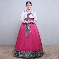 vestidos coreanos bola venda por atacado-Mulheres novas roupas hanbok dress coreano tradicional royal national dance performance traje feminino ball gowm roupas cosplay