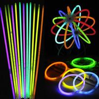Wholesale multi color bulbs resale online - Hot Glow Stick Bracelet Necklaces Neon Party LED Flashing Light Stick Wand Novelty Toy LED Vocal Concert LED Flash Sticks Multi Color