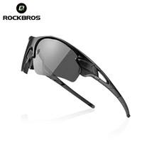 óculos de sol fotoquímicos homens mulheres venda por atacado-Rockbros Fotocromia Óculos de Ciclismo Pesca Condução Equitação Caminhadas Ao Ar Livre Óculos De Sol Das Mulheres Dos Homens Da Bicicleta Da Bicicleta Polarizada Óculos