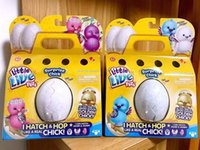 Wholesale Plush Birds - Little Live Pets Mini Eggs Surprise Chick Will walk Will call simulation Toys For Kids Christmas Birthday Gift 4pcs