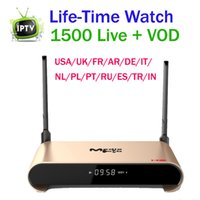 Wholesale iptv box usa online - Life time Watch IPTV media player H2 android box RK3229 GB ram GB rom Europe channels for arabic French USA UK media player