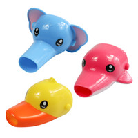 Wholesale Plastic Wash Sink - Free shipping Happy Fun Animals Faucet Extender Baby Tubs Kids Hand Washing Bathroom Sink Gift Fashion and Convenient
