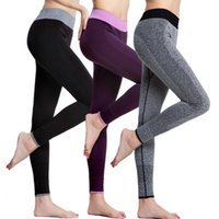 Wholesale black yoga pants xs online - Yoga Ninth Pants Women Running Workout Legging Outdoor Sports Casual Gym Stretch Pants Drying Trousers OOA4362