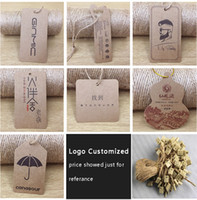 Wholesale Hang Tags Printing - Paper tags Hanging labels Pendants Tag labels for self-design Price tags Paper labels