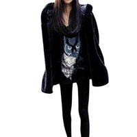Wholesale Fur For Hood - Female Soft Warm Faux Fur Coat for Women Lady Casaul Long Sleeve Covered Button Hooded Thick Warm Fur High Quality Women's Coat