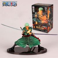 ingrosso figura zoro-Giocattolo modello di raccolta di anime Cool Decisive Battle Version One Piece Roronoa Zoro Pvc Figure Toy Action Collection Modello giocattolo Brinquedos