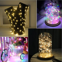 ingrosso rosa fata-LED String Lights 2M 3M 5M Copper Wire Fairy light Decorazione natalizia per feste natalizie Alimentato a batteria USB led Strip light
