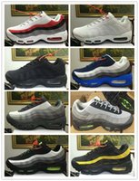 Wholesale Cheap Gingham - Free Shipping Air Cushion 95 KPU Casual Shoes Men Women 2017 Cheap Outdoor High Quality Training 95S Plastic Running Shoes