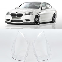 Wholesale bmw e46 front - 1 Pair Left Right Front Headlight Lens Cover Plastic For BMW E30 E46 E90 Headlight Case Shell Automobiles Headlamp Lense Kit