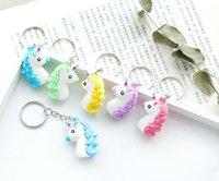 mini halka alaşımları toptan satış-Yeni Moda Mini Unicorn Stil Alaşım Anahtarlık Ev Partisi Sevimli Anahtar Yüzükler Takı Hediye Ücretsiz Kargo