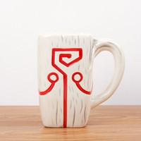 dota anhänger großhandel-DOTA 2 TI4 Zubehör Juggernaut Jugg Mask Anhänger Keramik Becher Kaffeetasse für Sammlung Moomin Geschenk für Freund Rugrats CL1108