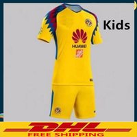 Wholesale wholesale jersey s america - DHL Free shipping 2017 2018 Club America Kids Soccer Jersey 17 18 America Kids Size can be mixed batch