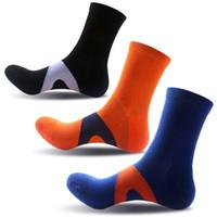 golf düşüşü toptan satış-20 Çift / grup erkek Pamuk Nem Esneklik Ekstra Ağır Yastık Ekip Atletik Sıkıştırma Spor Çorap Desteği FBA Drop Shipping G514S