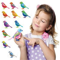 Wholesale Digi Birds Pets Music Electric Bird Singing Bird Toys With Button Battery Christmas Gift For Kids S20 Random Color