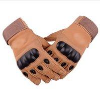 kaliteli taktik eldivenler toptan satış-ABD Askeri Özel Kuvvetler Taktik Ordu Eldiven Kayma Erkekler Parmaksız Mücadele / Tam Parmak Eldiven Yüksek Kalite Açık Taktik Eldiven