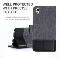 Wholesale Xperia Wallet - Soft TPU+PU Leather Canvas Wallet Stand Case Cover for Sony Xperia L1