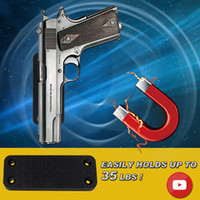 пистолеты ружья пистолеты оптовых-Vapanda Магнит скрытый пистолет Пистолет держатель крепление с porweful 35 фунтов рейтинг магнитный для пистолета винтовка дробовик пистолет револьвер под столом