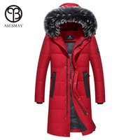 Wholesale Luxury Down Jacket Fur - Asesmay Luxury Men Down Jacket Thick Winter Coat Men's Casual High Quality X-long Winter Jacket Fox Hooded paragraphy Warm Parka